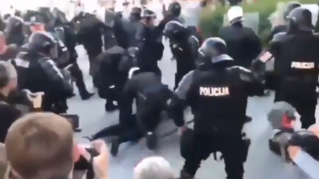 20 arrested at protest against lockdowns & 'LGBTQ+ propaganda' in Lithuania (VIDEO)