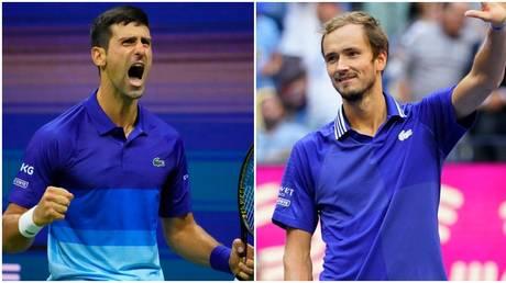 Novak Djokovic and Daniil Medvedev will contest the US Open final. © USA Today Sports