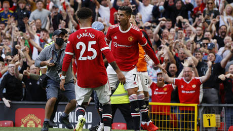 Ronaldo made an incredible return for Manchester United. © Reuters