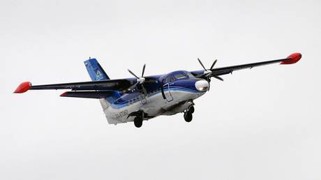 FILE PHOTO: an L-410 aircraft belonging to a Russian regional airline company.