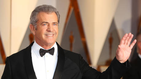FILE PHOTO: Mel Gibson is shown at the 2017 Academy Awards in Los Angeles.