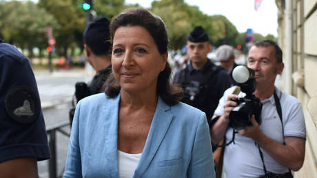 Former Health Minister Agnes Buzyn arrives at the Court of Justice of the Republic, and could face charges over her handling of the Covid-19 crisis, in Paris