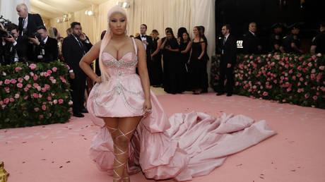 FILE PHOTO: Rapper Nicki Minaj at the Metropolitan Museum of Art Costume Institute Gala, New York City, May 6, 2019
