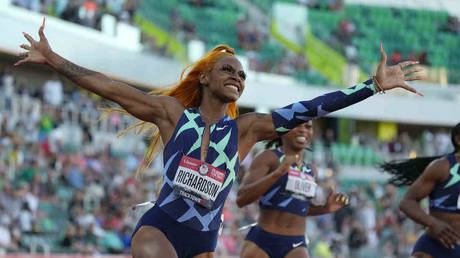 Sha'Carri Richardson missed the Olympics after her cannabis ban. © USA Today Sport