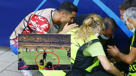 The steward struck by a shot from Ronaldo has spoken about the incident. © Reuters / YouTube tiktok fluxx