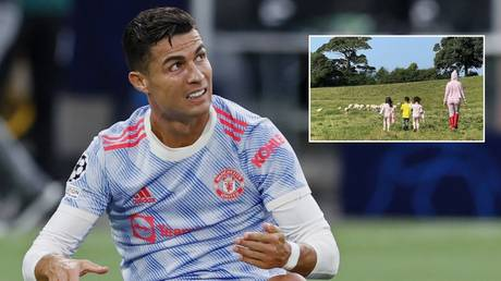 Cristiano Ronaldo has reportedly been driven from one mansion by some noisy sheep. © Reuters / Instagram @georginagio