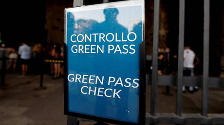, Italy makes Covid-19 health pass mandatory for all workers & anyone without it faces suspension with NO PAY,