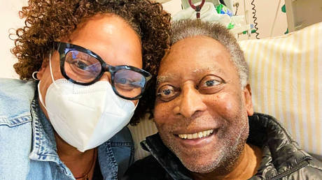 Kely Nascimento (left) has shared an update on her father, Pele © Instagram / iamkelybirth
