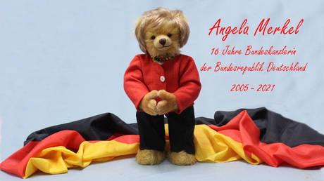 German toy factory reveals teddy bear dedicated to Angela Merkel ahead of her resignation