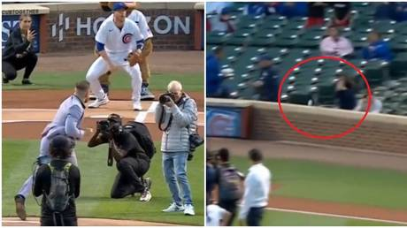 Conor McGregor's pitch at the Chicago Cubs went viral for all the wrong reasons. © Twitter