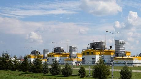 Yamal - Europe gas pipeline facilities in Ciechanow, Poland, April 20, 2021.