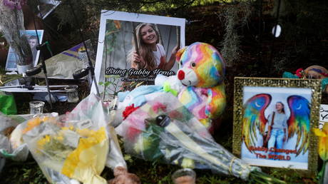 A makeshift memorial for Gabby Petito near North Port City Hall in North Port, Florida, U.S., September 22, 2021.