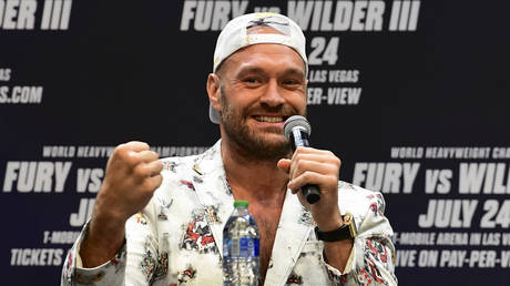 Tyson Fury spoke about the vaccine ahead of a third clash with Wilder. © AFP