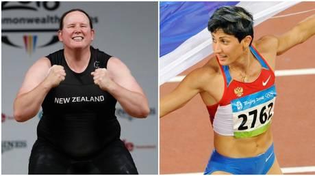 Russian Olympic champion Tatyana Lebedeva commented on transgender athlete Laurel Hubbard. © Reuters / AFP