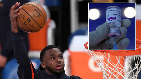 Andrew Wiggins has been refused a request to avoid taking a Covid-19 vaccine © Kevin Lamarque / Reuters | © Leonhard Foeger / Reuters