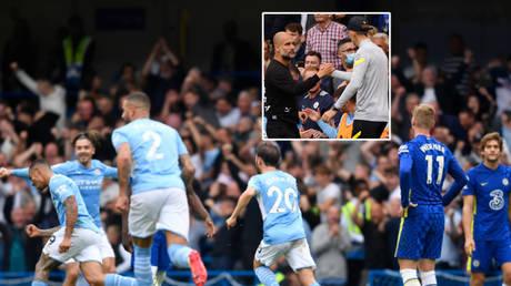 Pep Guardiola (inset) got the better of Chelsea as Manchester City won in the Premier League © John Sibley / Action Images via Reuters | © Toby Melville / Reuters