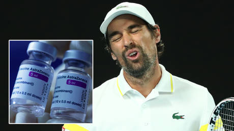 Jeremy Chardy is taking a break from tennis because of what he believes are side effects from a Covid-19 vaccine © Kelly Defina / Reuters   © Leonhard Foeger / Reuters
