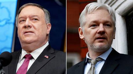 (L) Mike Pompeo © Andrew Harnik/Pool via REUTERS; (R) Julian Assange © REUTERS/Peter Nicholls