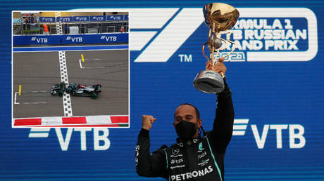 'Incredibly grateful' F1 champ Hamilton thanks fans after winning his 5th Russian Grand Prix to seal 100 career victories (VIDEO)