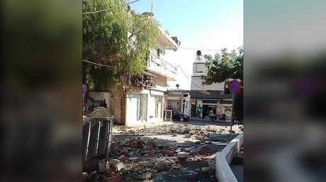 Greek island of Crete hit by 6.0 magnitude earthquake, 27 September, 2021. Twitter @ChitasKostas
