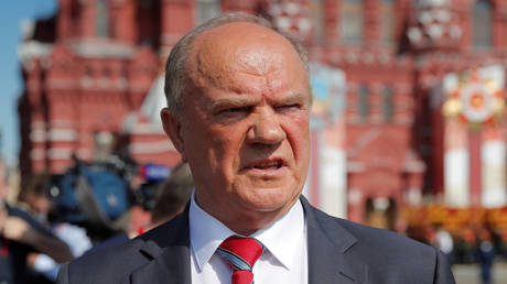 FILE PHOTO: Leader of the Russian Communist Party Gennady Zyuganov is seen in Red Square before the Victory Day Parade in Moscow, Russia June 24, 2020. © REUTERS/Maxim Shemetov
