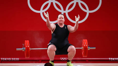 Transgender weightlifter Laurel Hubbard competed at the Tokyo Olympics. © Reuters