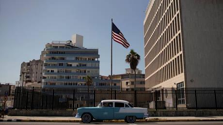 US Embassy in Havana, Cuba, March 2, 2021 file photo.