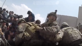 Terrified civilians, shots fired & smashed gear: Leaked VIDEO of US Afghan exit offers unvarnished look at chaotic evacuation