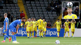 Kazakhstan footballer took failed drugs test before heroic goals in draw against Ukraine – but club only knew a day after the game