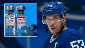 'Let's change the name on his jersey to Dr Horvat': NHL captain earns mixed reaction after urging 'everybody' to get Covid vaccine