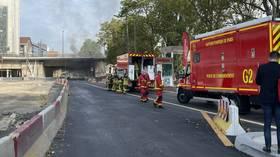 Fire breaks out under Paris bridge, area cordoned off amid emergency service operations