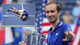 Ballache: US star Sandgren disqualified for striking judge's backside – moments after player got 'hit in the nuts' (VIDEO)