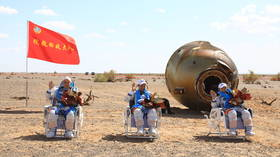 Chinese space station builders safely return to Earth after breaking national record in orbit (VIDEO)