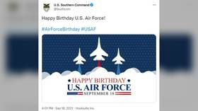Thanks, comrades! US SOUTHCOM amuses Twitter followers with pic celebrating US Air Force birthday featuring RUSSIAN warplanes