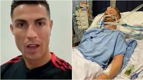 Ronaldo sends message of support to footballer as he fights for life in coma after alleged 'sucker-punch attack' (VIDEO)