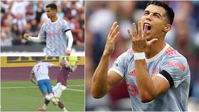'His first dive back in England': Ronaldo nets again for Man Utd but debate rages after THREE penalty appeals rejected (VIDEO)