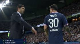 'He's not happy': Messi accused of SNUBBING PSG boss Pochettino as star is SUBSTITUTED in home debut