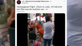 Bizarre brawl between woman & clown in central Vienna puzzles Austrians (DISTURBING VIDEO)