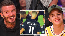 'No nepotism there, then?': Fans joke after Beckham says he's 'so proud' of son's debut for reserves of US club he co-owns (VIDEO)