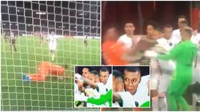 PSG star Mbappe told to 'be more humble' after goading goalkeeper and 'hiding behind teammates' as Neymar protects him (VIDEO)