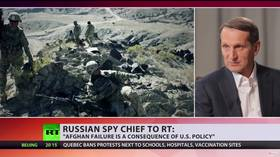 'US didn't want to face the truth that it's no longer the global hegemon,' Russian spy chief tells RT after Afghanistan debacle