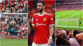 'A living legend': Keeper DARES Ronaldo to take penalty – then dances at Man United fans after Fernandes skies late kick (VIDEO)