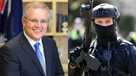 'Living in parallel universe': Australian PM boasts of Aussies' love of freedom to the UN as police crackdown continues at home