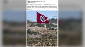 'Bizarrely huge' Nazi flag 'flown by Palestinians' makes skeptics cry 'Photoshop' (it was not)