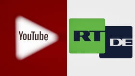 YouTube deletes 2 channels of RT's sister project RT DE with 600K subscribers over alleged community guidelines violation