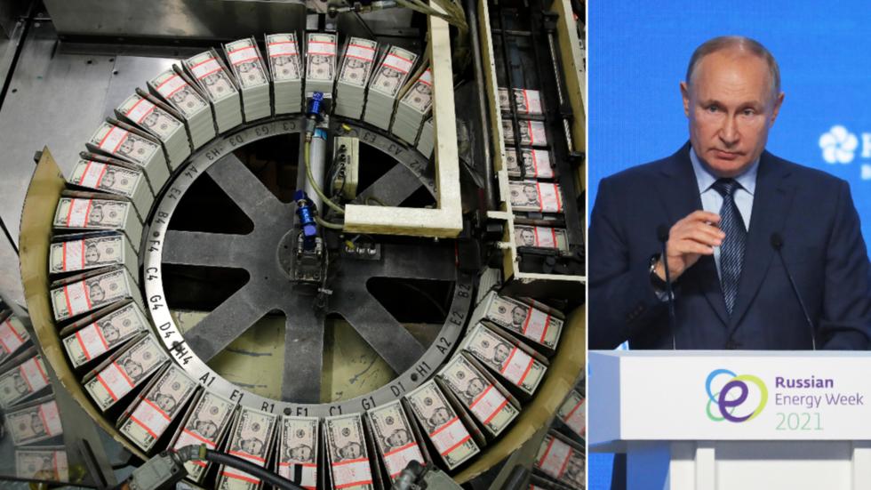 Putin: Die USA zerstören selbst den Dollar als Reservewährung, indem sie Sanktionen und unkontrolliertes Gelddrucken als Waffen einsetzen und die Inflation anheizen