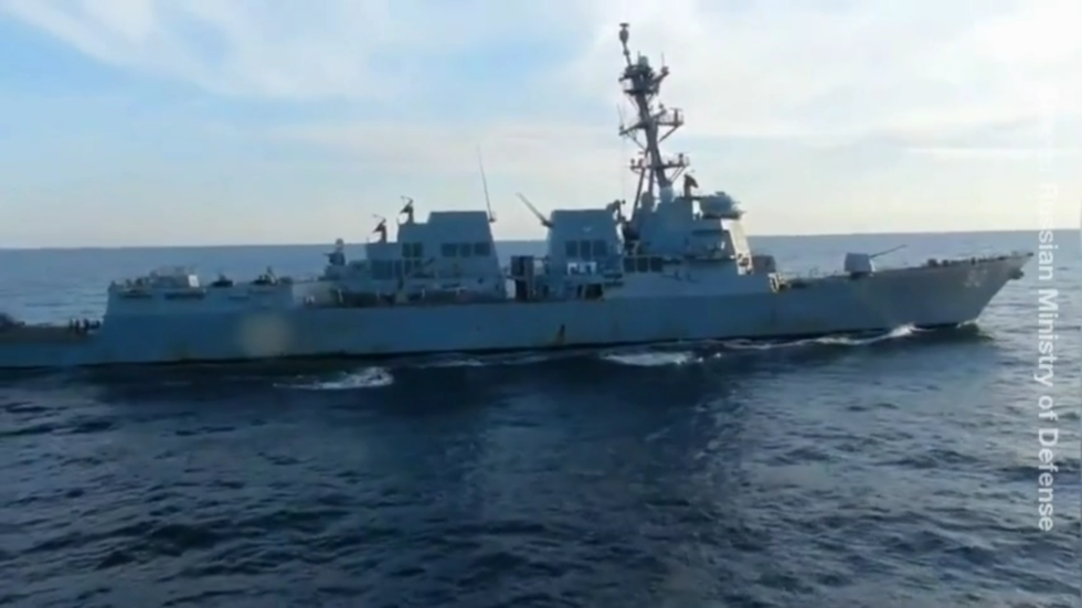 US warship intercepted by Russian Navy while trying to sail into country's territorial waters, Moscow says amid drills with China