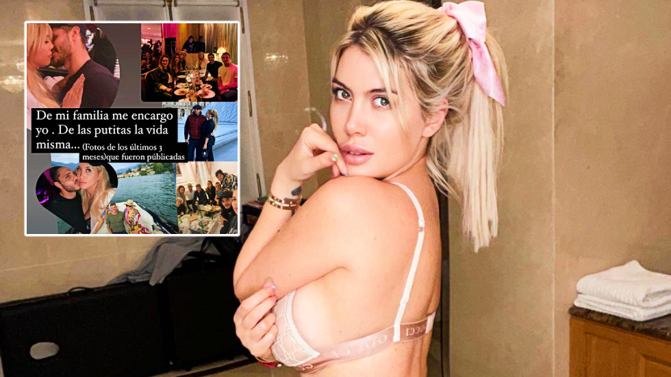 Wanda Icardi warns 'life will take care of the whores' as model posts pics with PSG star husband for 1st time since alleged affair