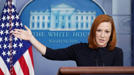 White House Press Secretary Jen Psaki speaks during a press briefing at the White House in Washington, US, September 30, 2021