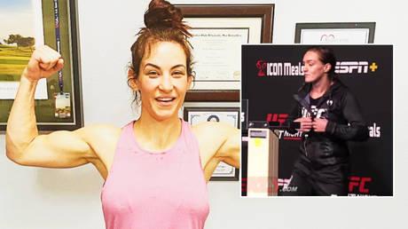 UFC star Miesha Tate (left) has savaged Aspen Ladd © YouTube / MMAWeekly | © Instagram / mieshatate